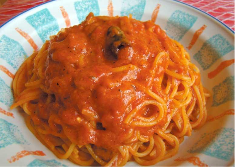 カプリチョーザのトマトとニンニクのスパゲティ