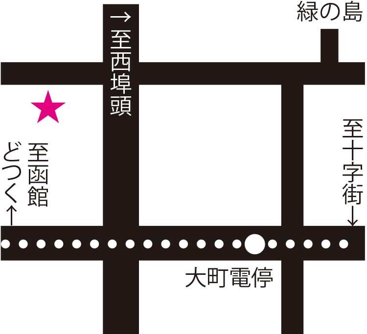 タチカワカフェ周辺地図