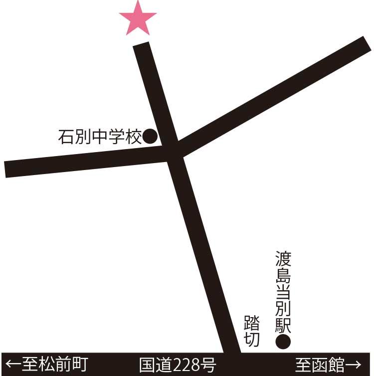 トラピスト修道院周辺地図