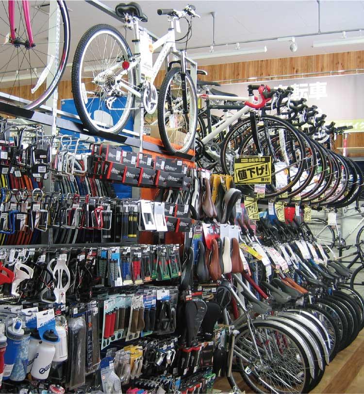 アルペン函館梁川店の自転車コーナー