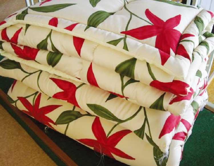 タジマ寝具で綿の打ち直しをした布団