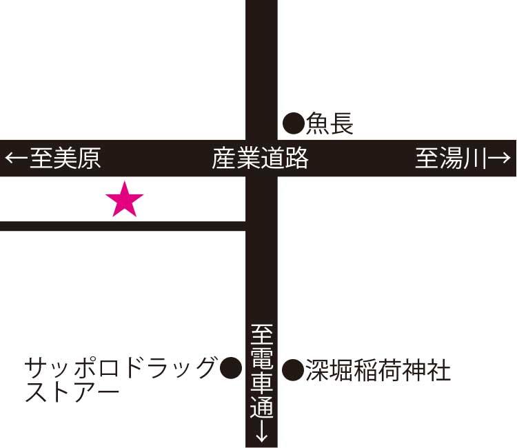 立ち呑み藤吉郎周辺地図