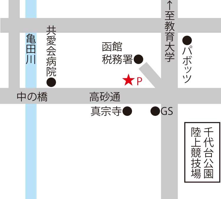 鮨処あうん亭周辺地図