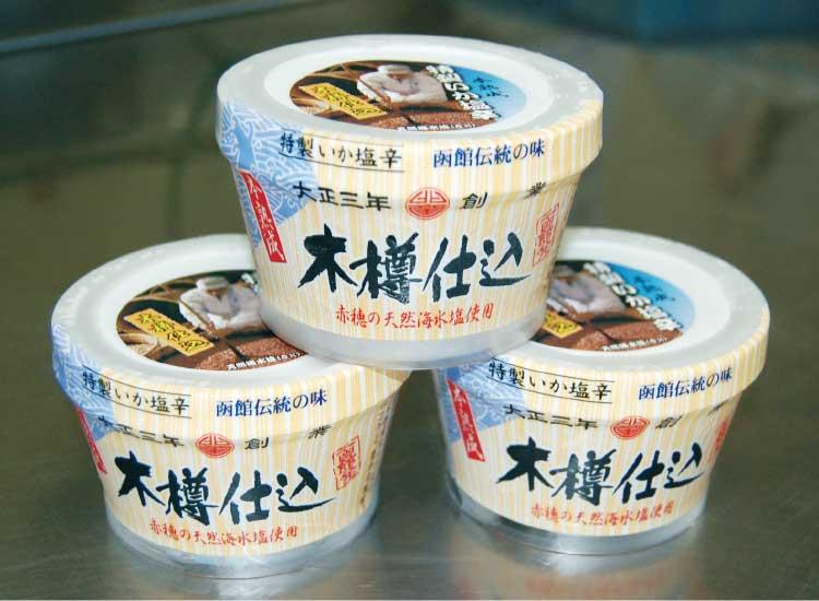 小田島水産食品株式会社の木樽仕込みいか塩辛