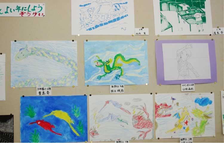 函館YWCA造形教室で子供たちが描いた絵