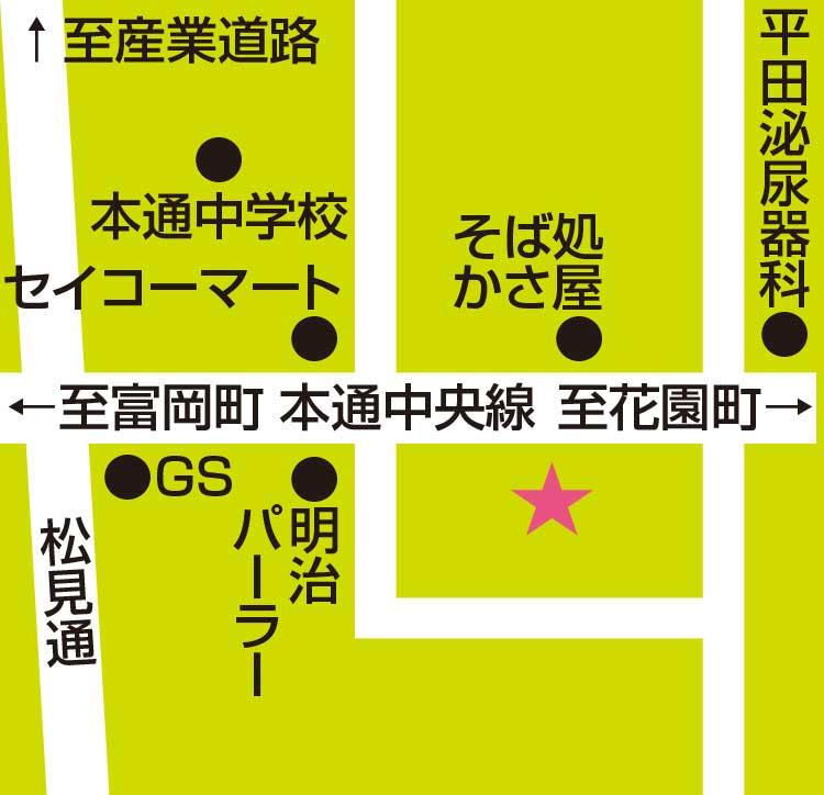 函館千秋庵総本家本通店周辺地図