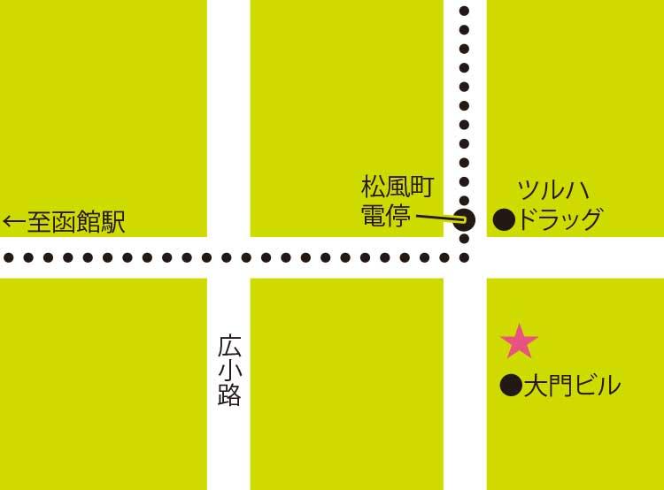 ZOO函館松風町店周辺地図