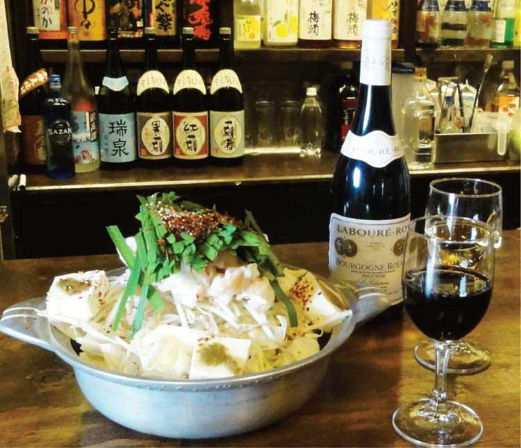 九州居酒屋ウェスタンキッチンのちりとり鍋と赤ワイン