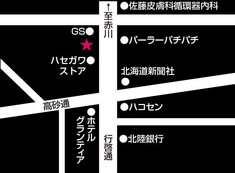 二代目佐平次周辺地図