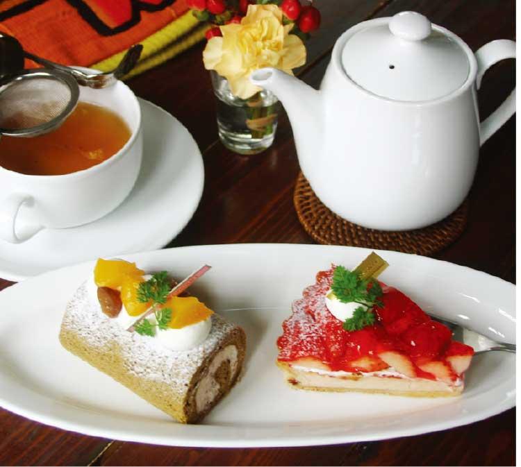 パティスリーカフェショコラのケーキセット