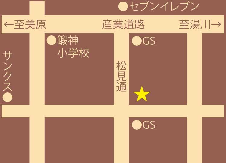 ばら苑周辺地図