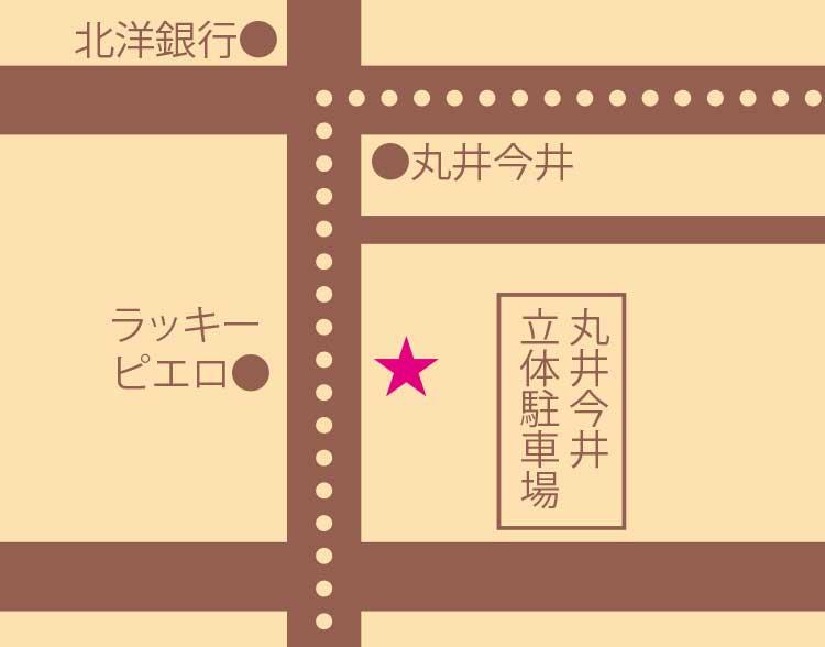 オールドニュー カフェ周辺地図