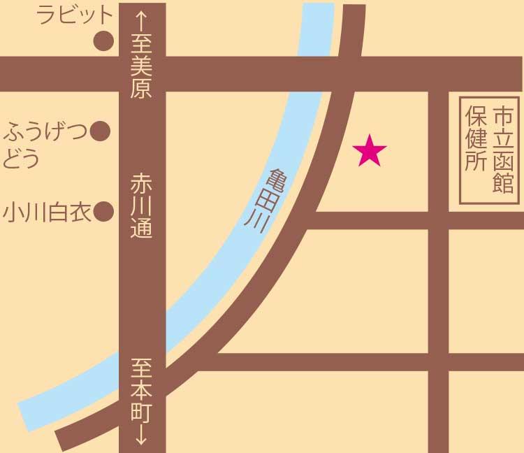 夏井珈琲ブリュッケ周辺地図
