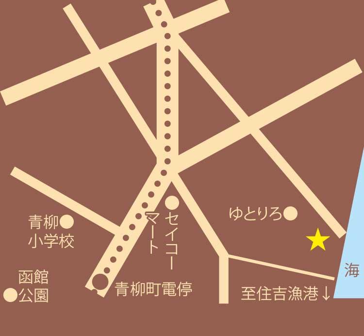 カフェバー・ラミネール周辺地図