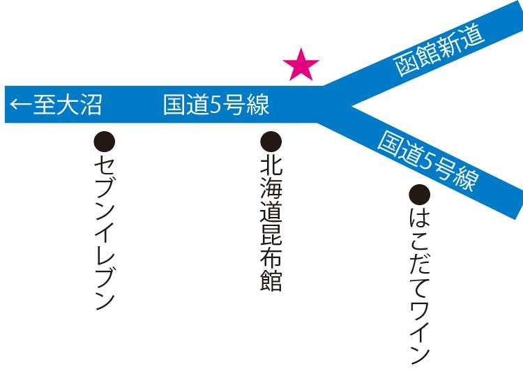 ラッキーピエロ峠下総本店周辺地図