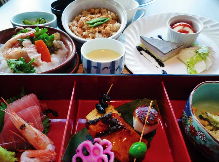 ホテルリソル函館の冬のレディースランチプラン料理