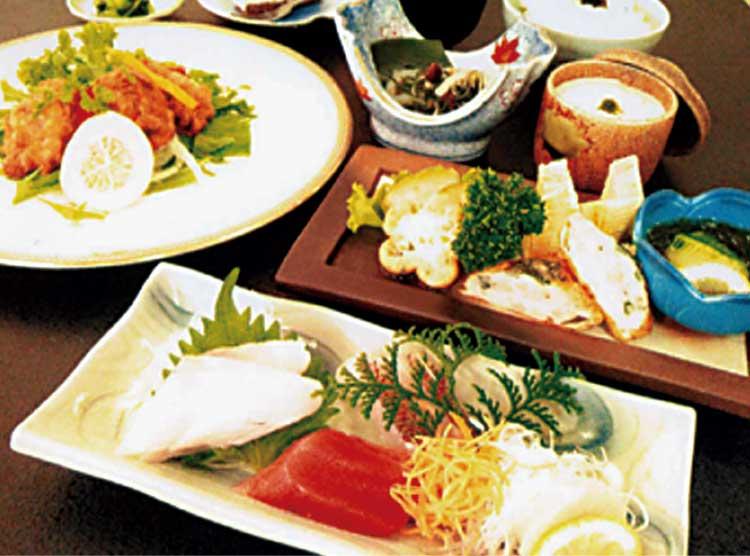 四季花菜のセットメニュー料理