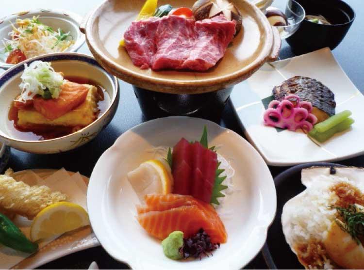 ホテルリソル函館の和食会席青いぽすと特別コース料理