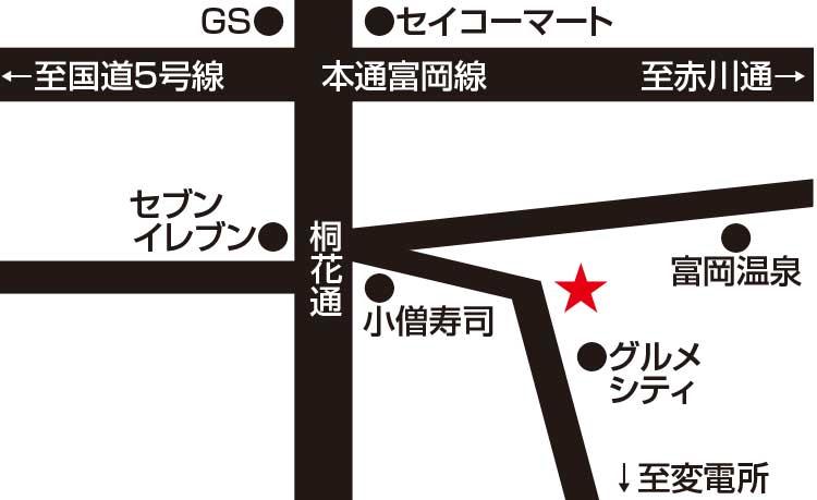 ビストロコパン周辺地図
