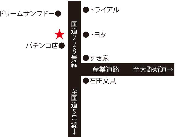 らーめん初代社周辺地図