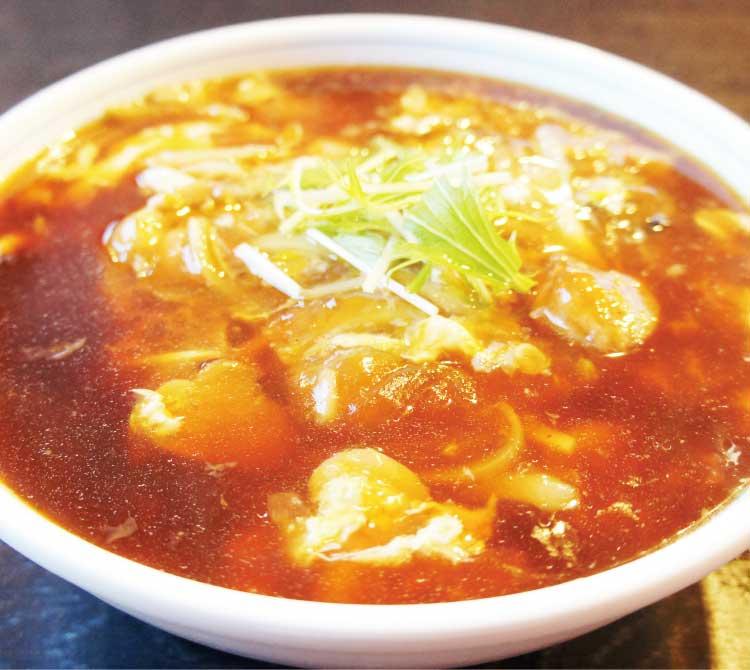 """中国料理廣河の中華""""辛""""親子麺"""