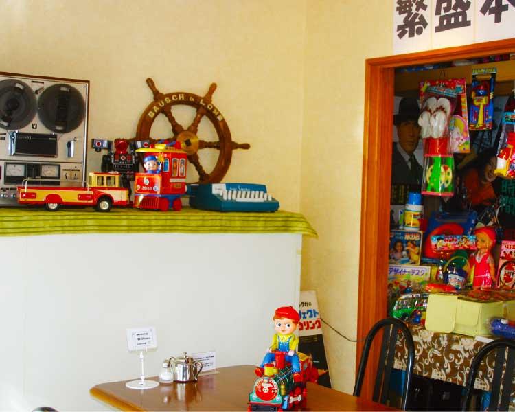 カフェフラフープにある懐かしい玩具