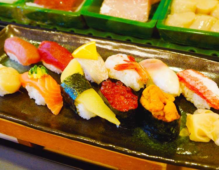 谷地頭弁天寿司の特上握り