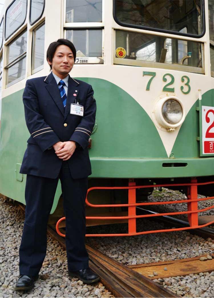 函館市電を運転している南孝之さん