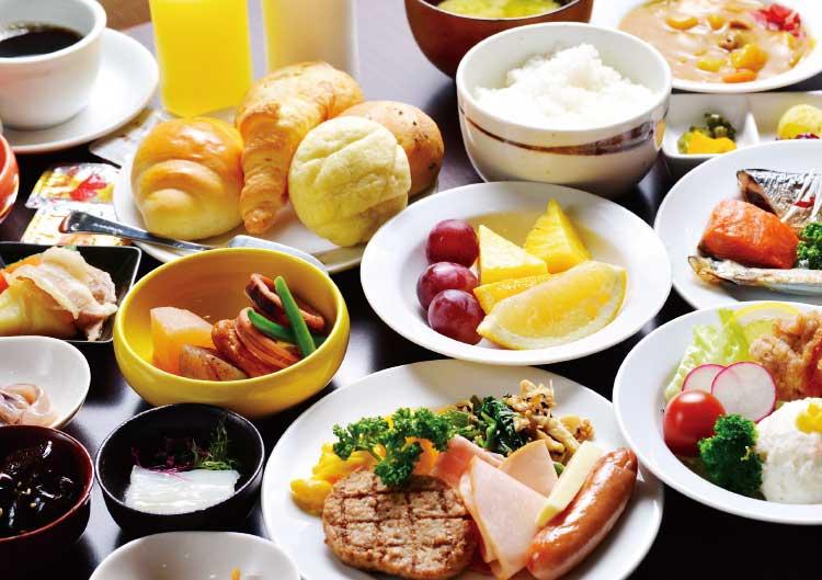 がごめ家の朝食ビュッフェ料理