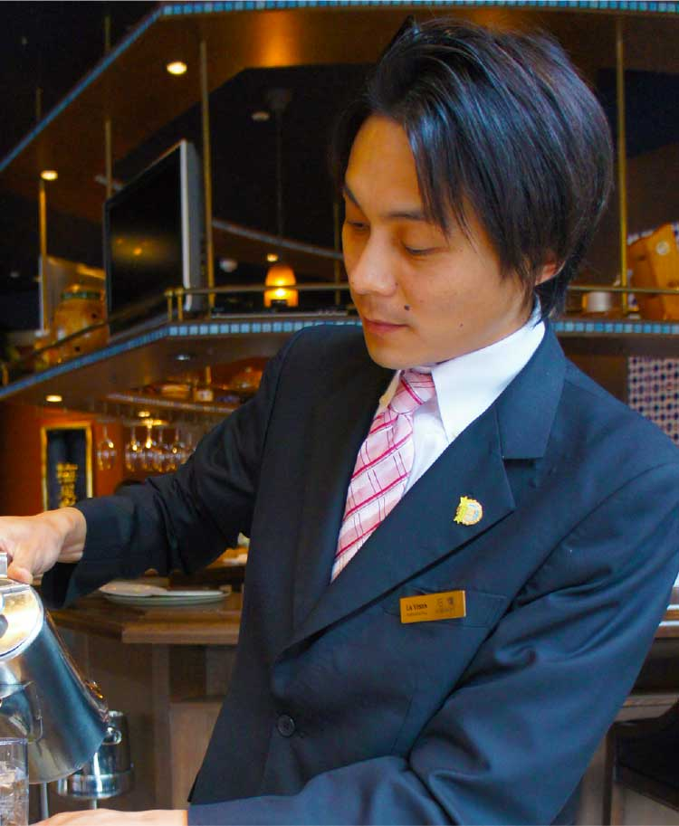 レストランノルテ料飲リーダー石橋大輔さん