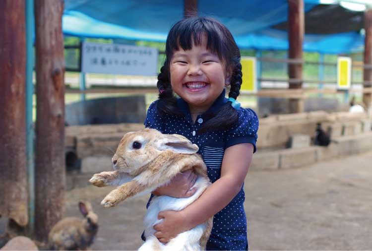 ふれあい広場&緑のオアシスのウサギ触れ合いコーナー