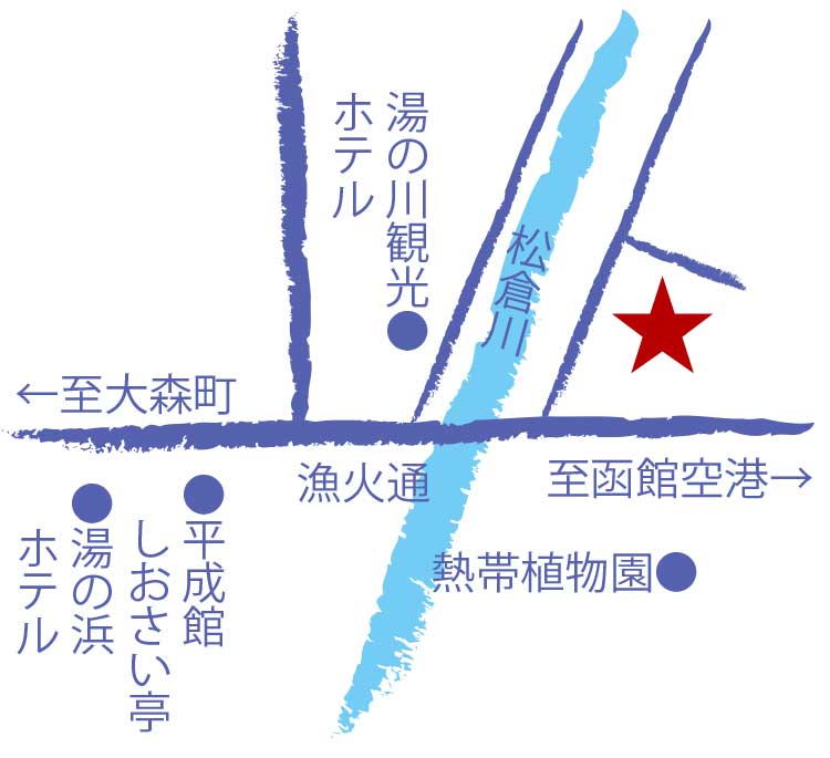 湯元入川周辺地図