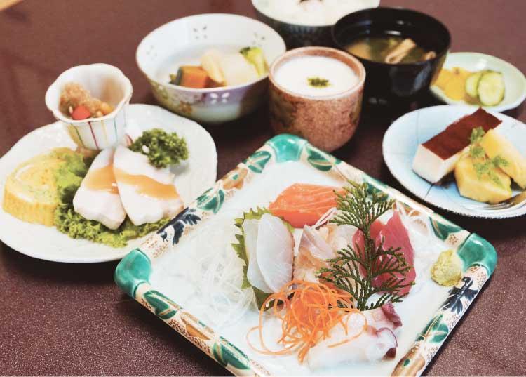 四季花菜の昼のおすすめセット