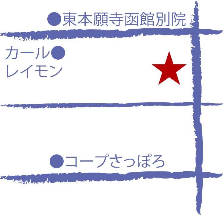 元町・大三坂久留葉周辺地図