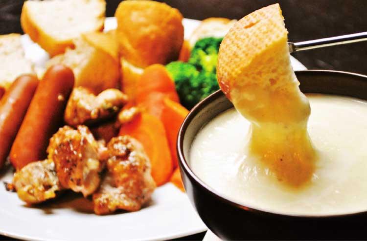 エバーグリーンのチーズフォンデュ