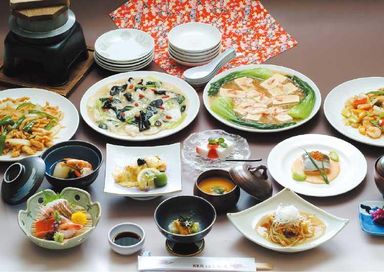 ホテルKKRはこだての忘新年会プラン中華コース料理
