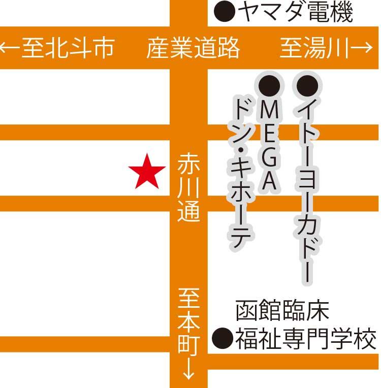 函館の銅鍋周辺地図