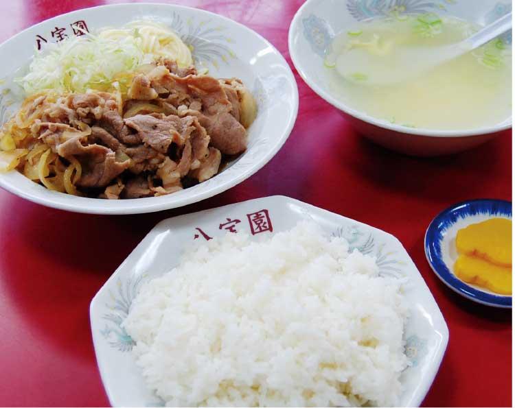 中華飯店八宝園の生姜焼定食