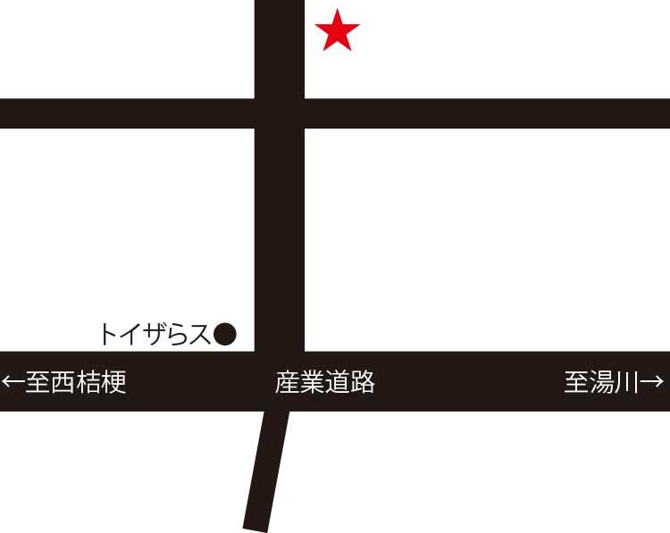 麺次郎石川店周辺地図