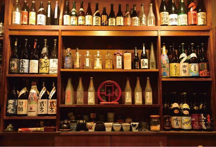 焼酎Bar oggiの焼酎ラインナップ