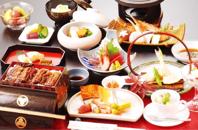 湯元入川の6500円食事プラン料理