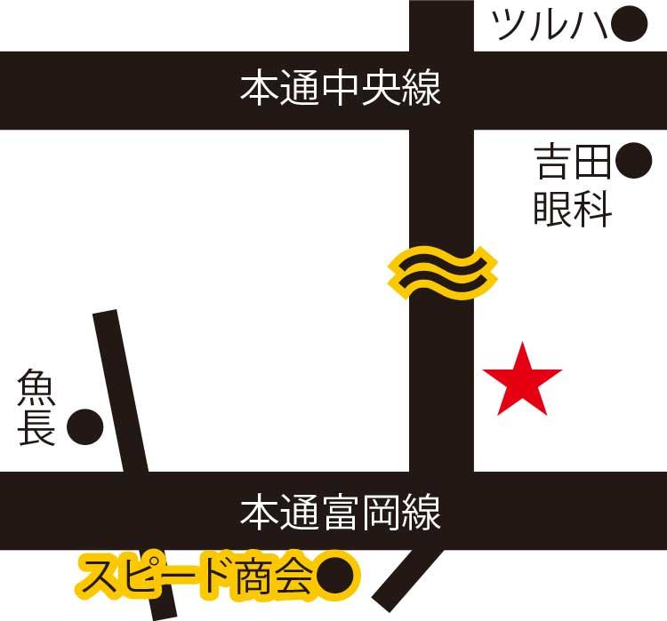 Jonnyの手羽先函館店周辺地図