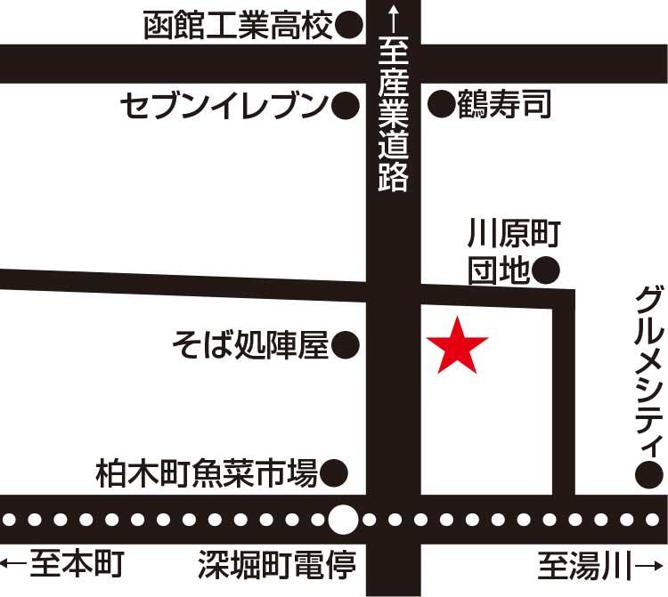 藤食堂周辺地図