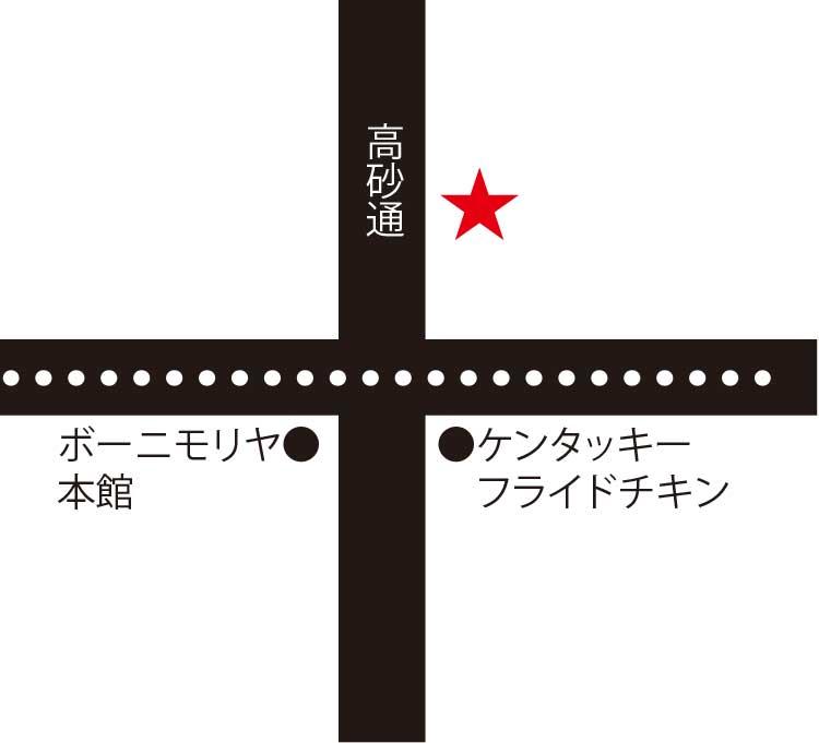 函館のいか家周辺地図