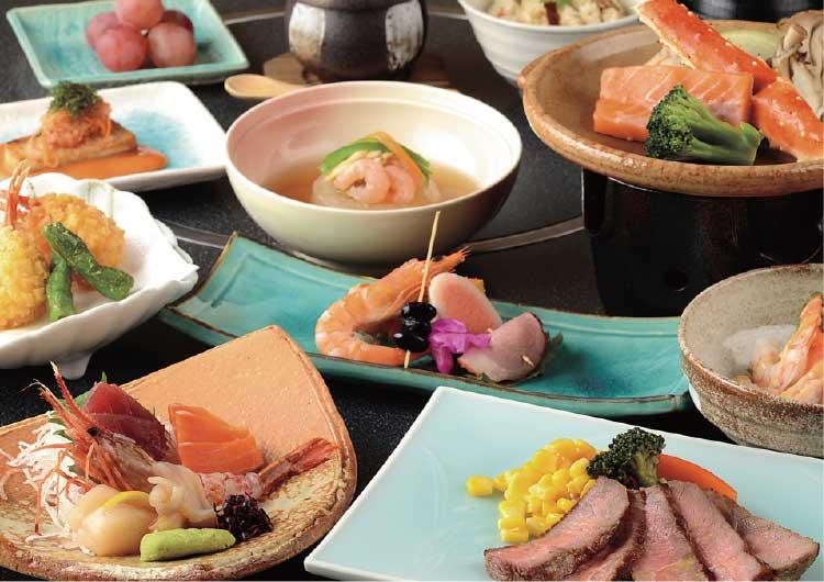 ホテルリソル函館の和食会席コース料理
