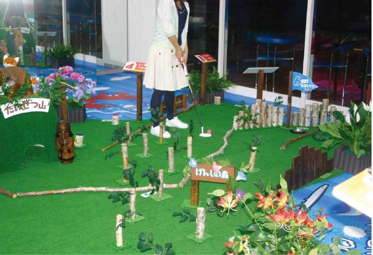 ホテルリソル函館のパターゴルフ