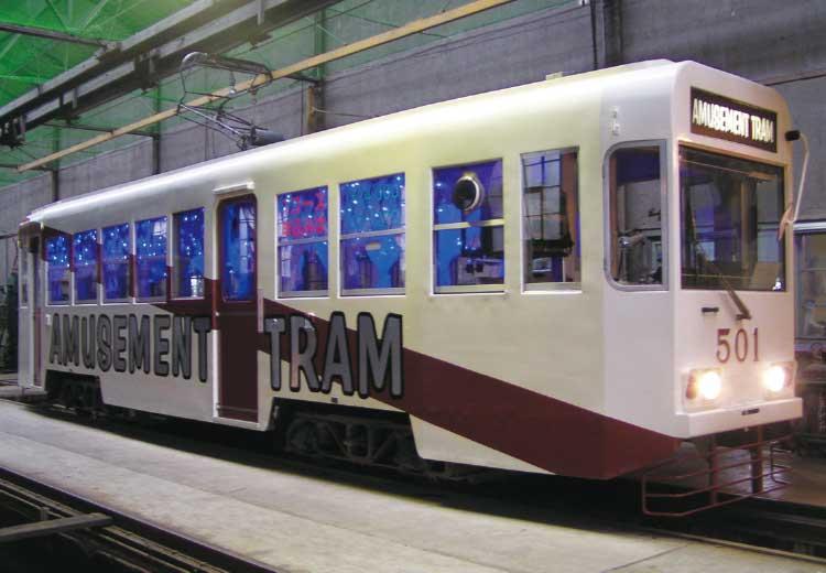 函館市企業局交通部のアミューズメントトラム