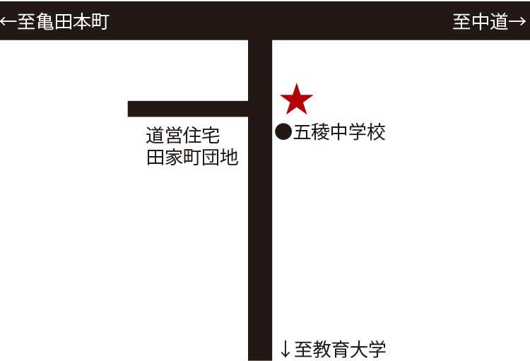 ラーメン専科麺次郎田家店周辺地図