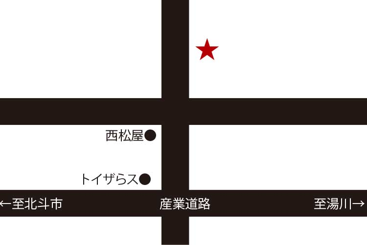 ラーメン専科麺次郎石川店周辺地図