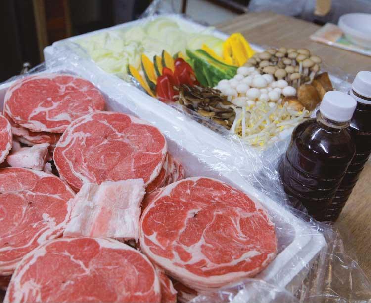 肉のスーパー大林のジンギスカンセット